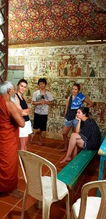 Conversation on Philosophy with a local Monk., in a 300 year old temple.